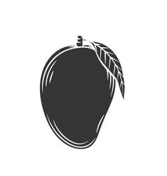 Mango glyph icon vector