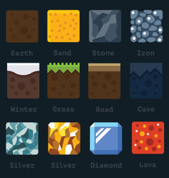 materials and textures for game vector image