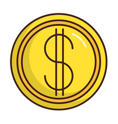 Money coin icon vector