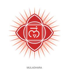 Muladhara chakra yoga ayurveda reiki vector