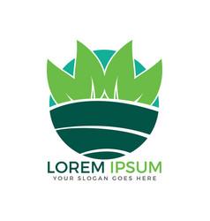 nature landscape logo design vector image