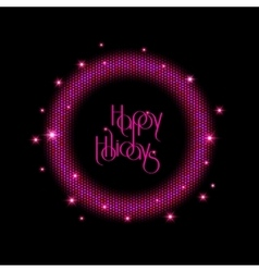 New Year 2016 background Purple shining round vector