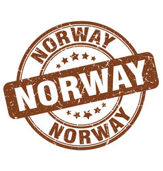 Norway stamp vector
