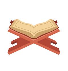 Open koran flat vector