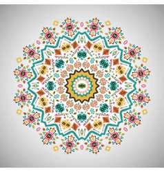 Ornamental round bright fashion pattern in aztec vector