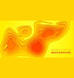 Papercut multi layer orange gradient background vector