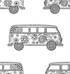 Pattern of Vintage car vector image