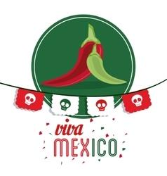 Pepper icon Mexico culture graphic vector