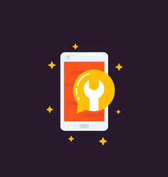 Phone repair and recovery icon vector