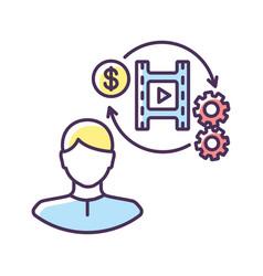 Producer rgb color icon vector