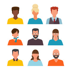 profile pictures id or cv avatars male and vector image