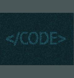 Programming code background vector