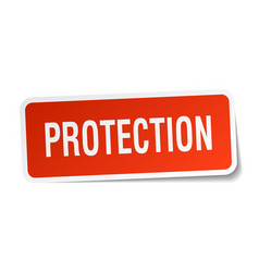 Protection square sticker on white vector