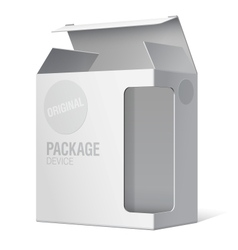 Realistic Package Box For Software device vector image