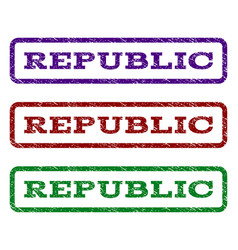Republic watermark stamp vector