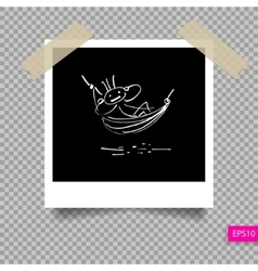 retro polaroid photo frame template vector image