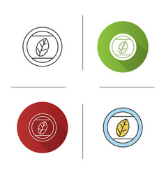 round sticker with tobacco leaf icon vector image