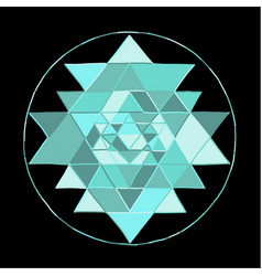 Sacred geometry and alchemy symbol sri yantra vector