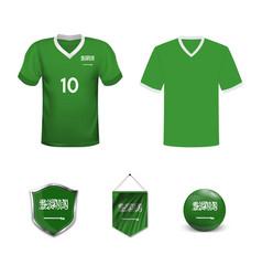 Saudi arabia home and away soccer jersey kit set vector