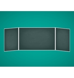 School chalkboard folding vector image