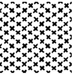 seamless cross pattern ornament vector image