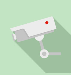 security camera icon flat style vector image