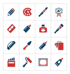 Set color icons of art vector image