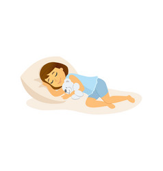 sleeping girl - cartoon people character isolated vector image