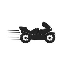Sport bike black silhouette transport power vector image