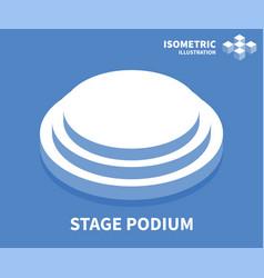 Stage podium icon isometric template vector