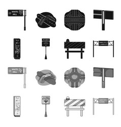 Stands and signs and other web icon in black vector