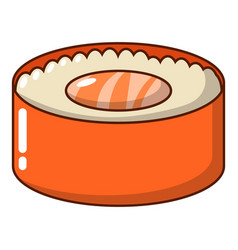 sushi fish icon cartoon style vector image