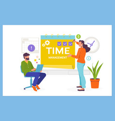 Time management planning and control concepteasy vector