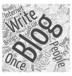 Tips on How to Write Great Blogs Word Cloud vector
