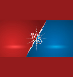 versus letters red letters v and s symbols vs vector image