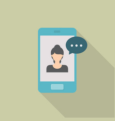 video call icon set of great flat icons with vector image