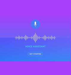 Voice assistant soundwave ai vector