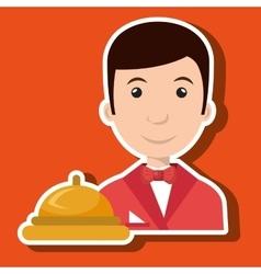 Waiter housekeeper man hotel vector
