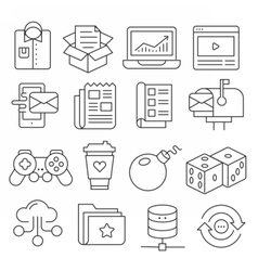 Weblines icons pack collection vector