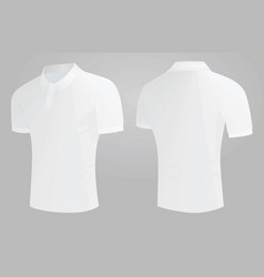 white polo t shirt vector image