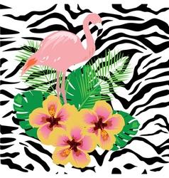 Zebra flam pink vector