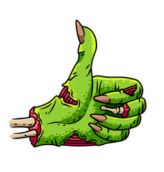 Zombie thumbs up isolated vector