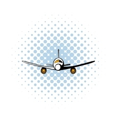 Airplane comics icon vector image