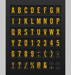 airport mechanical flip board panel font vector image