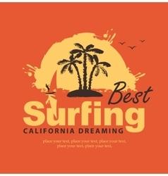 best surfing in California vector image vector image