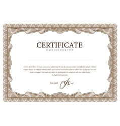 Certificate pattern that is used in currency and vector image