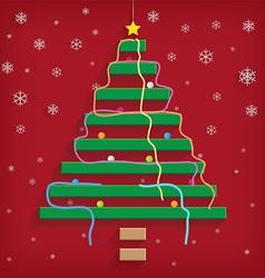 Christmas tree steps vector image vector image