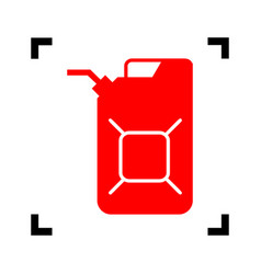 jerrycan oil sign jerry can oil sign red vector image