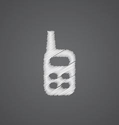 Radio sketch logo doodle icon vector
