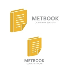 Template logo for the library or bookstore vector image